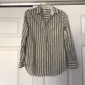 patterned button down blouse from J. Crew